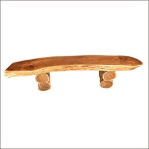 Outdoor Weight Bench 69 Quot Appalachian Rustic Natural Wood Seat Log Cabin Garden