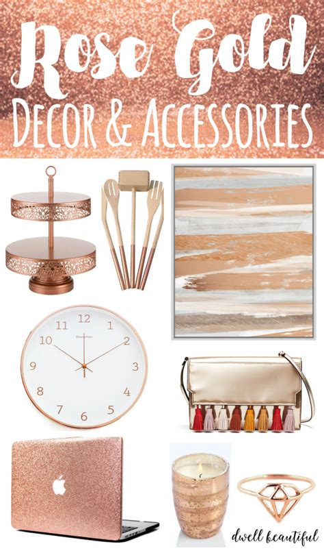 home decorations and accessories design trend stylish rose gold home decor and accessories