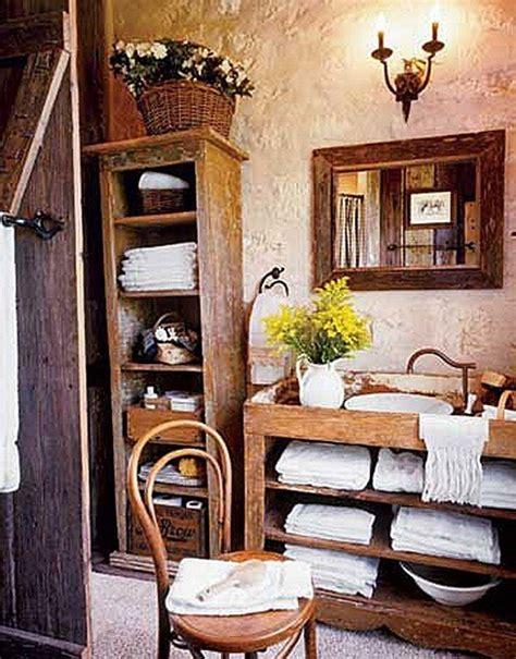 country style bathroom decorating ideas muebles de ba 241 o rusticos fotos espaciohogar com