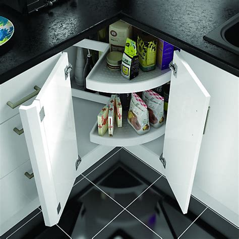 kitchen cabinet accessories uk wickes 2 tier carousel unit white wickes co uk