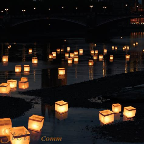 10 floating water lanterns lantern candle tea lights