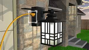 Outdoor Motion Sensor Light Not Working - sunbeam led wall lantern with gfci and sensor youtube