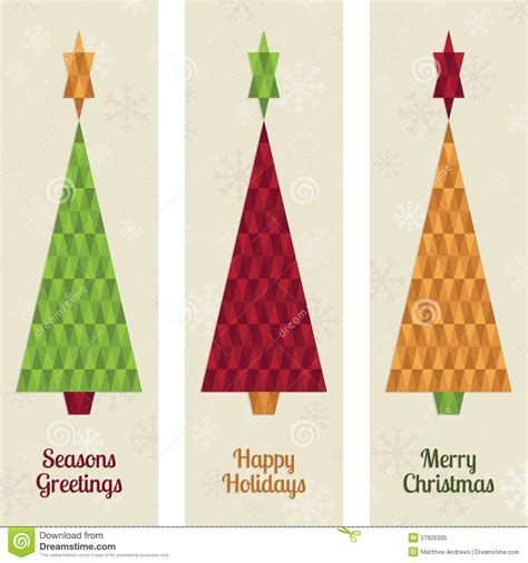 christmas tree banners stock vector image of polygon