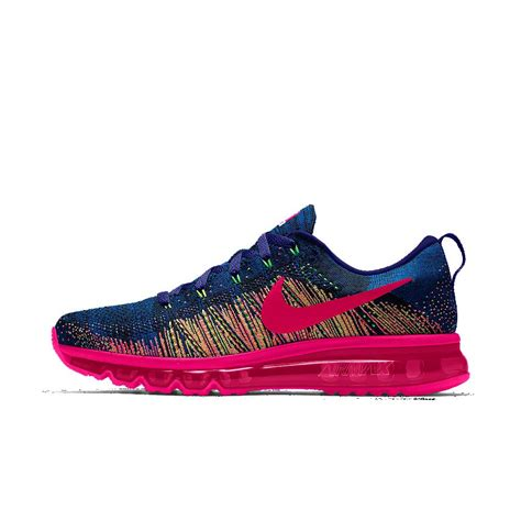 nike flyknit air max running shoes nike flyknit air max id s running shoe in pink lyst