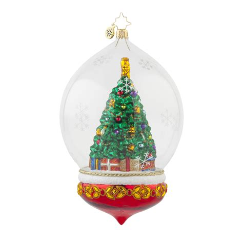 radko 1017684 perfectly festive christmas tree in dome