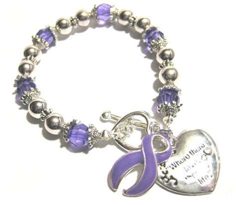lupus awareness silver ribbon and charm bracelet
