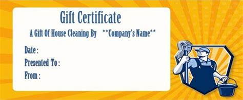 house cleaning gift certificate template house cleaning gift certificate template free house