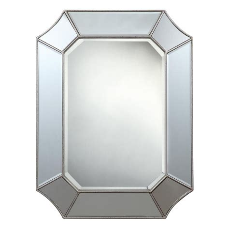 beveled bathroom mirrors frameless shop cooper classics nelson silver beveled octagon