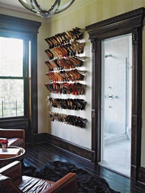 wall mounted shoe display shelf 3 stylish ways to store christian louboutin shoes lollipuff