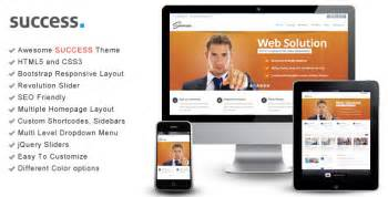 bootstrap themes themeforest success bootstrap responsive html template by