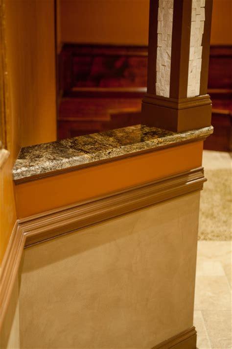 Granite Cap Countertops granite cap for knee wall traditional kitchen