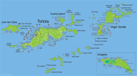 bvi map islands map of accommodations jewels of the bvi