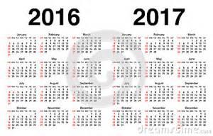 Calendario N Settimane Calendario Para 2016 Y 2017 Ilustraci 243 N Vector