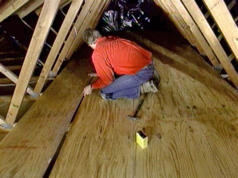 How To Finish An Attic Floor how to create attic storage