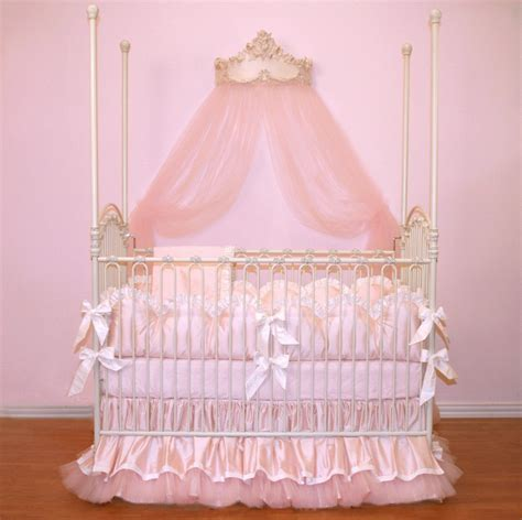 Princess Baby Cribs Custom For Pugred11 Soft Pink Luxury Posh Baby Nursery 4