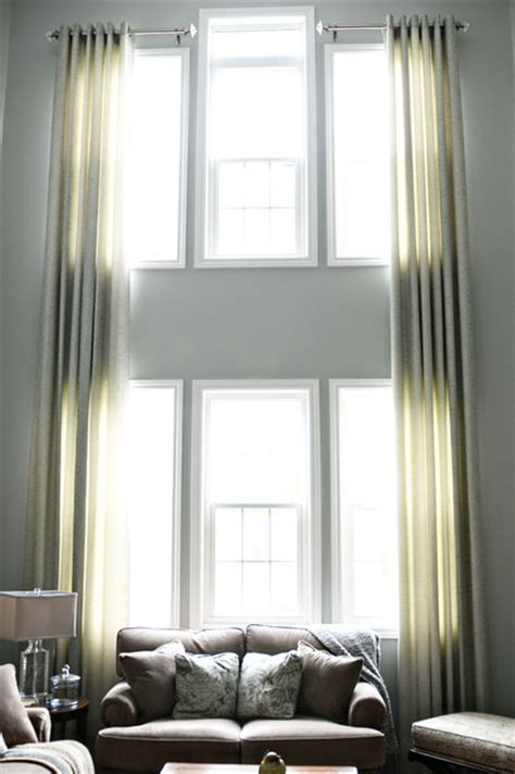 Living Room Big Window Curtains Drapes For Windows Modern Window Treatments