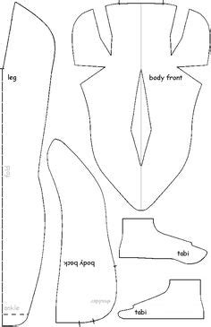 japanese ninja pattern patterns for shoe covers figure 3 pattern for shoes