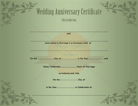 free wedding certificate template keepsake printable wedding certificate template