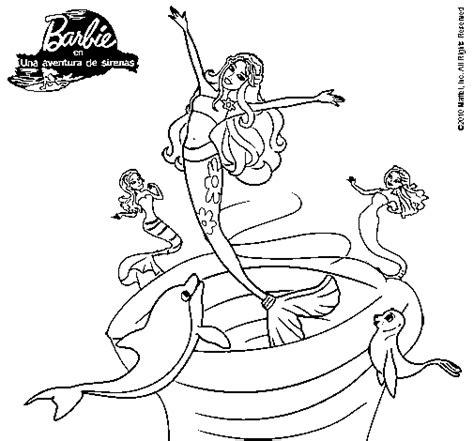 dibujos para colorear de barbie sirena y su delf n dibujo de barbie sirena contenta para colorear dibujos net