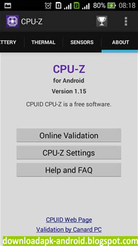 apk cpu z cpu z for android apk android
