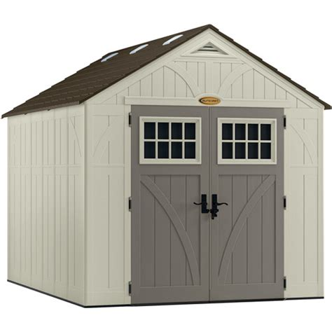 8x10 Rubbermaid Shed by Suncast 8 X 10 Shed Vanilla Walmart