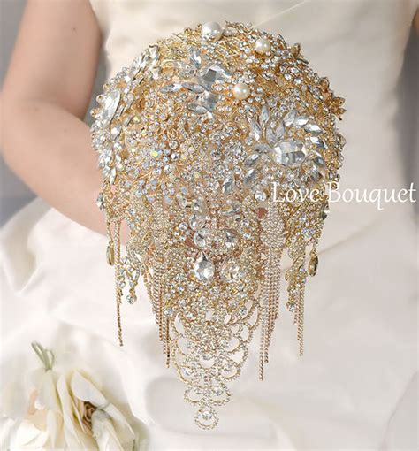 Wedding Bouquet And Gold by Gold Brooch Bouquet Gold Wedding Brooch Bouquet By Lovebouquet