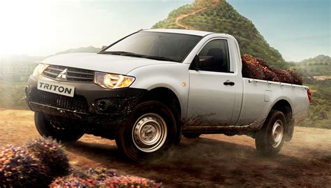 mitsubishi l200 single cab new mitsubishi triton single cab launched rm70 5k image