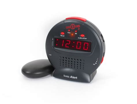 dual alarms clock vibrating loud sonic boom jr bed shaker deaf hearing impaired 689550485880 ebay