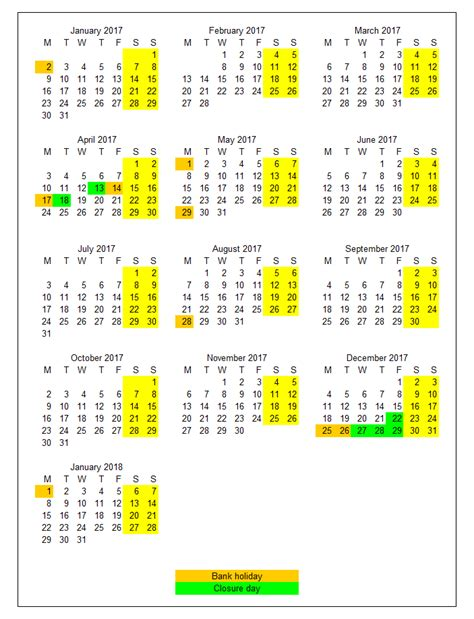 Calendar 2018 Showing Bank Holidays March 2018 Bank Calendar Printable Free