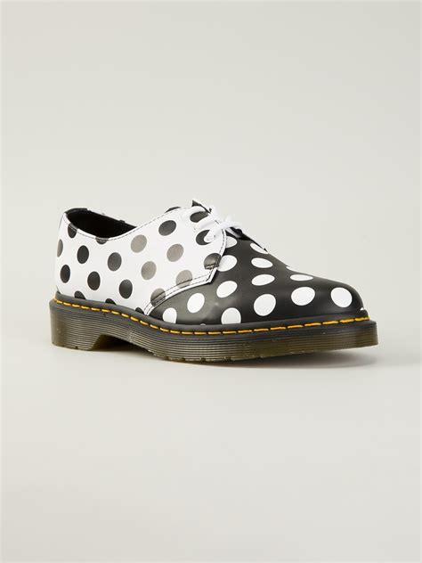 polka dot sneakers dr martens meris polka dot shoes in black white lyst
