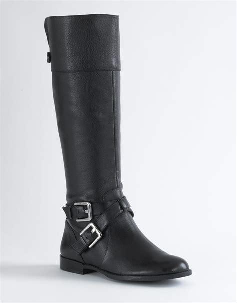 calvin klein boots calvin klein hayden buckle boots in black