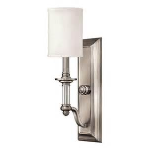 Brushed Nickel Wall Sconce Hinkley Lighting 4790bn Sussex Wall Sconce In Brushed Nickel Ebay