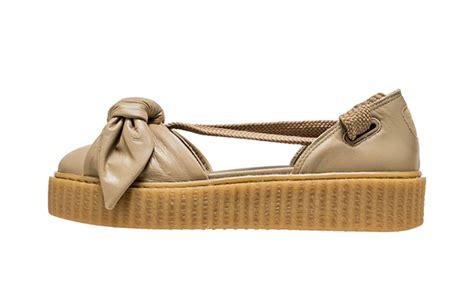 Rihanna Bow Crepers White rihanna x fenty bow creeper sandal brown fastsole co uk