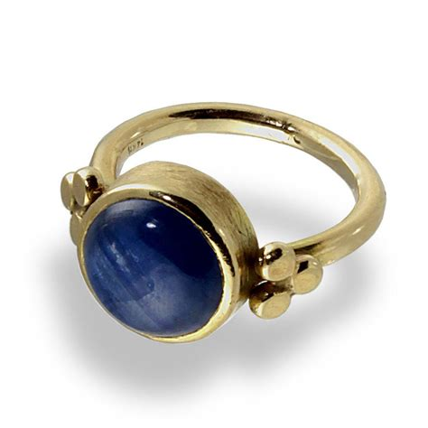 bold gold ring kyanite gemstone yellow gold ring