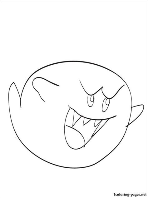 ghost boo coloring page boo mario coloring page coloring pages