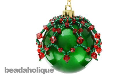 how to make a beaded christmas ornament topper youtube