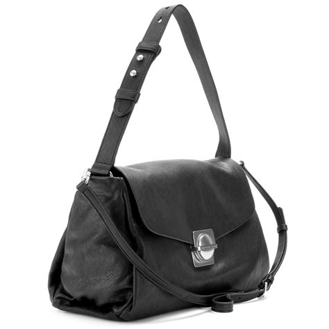 Marc By Marc Captain Shoulder Bag Purses Designer Handbags And Reviews At The Purse Page by Marc By Marc Leather Shoulder Bag In Black Lyst