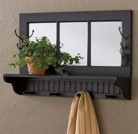 Wall Designs Ideas Black Southport Shelf With Hooks