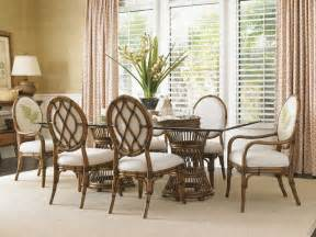 bahama home bali hai tropical pedestal 7 dining set tropical dining room