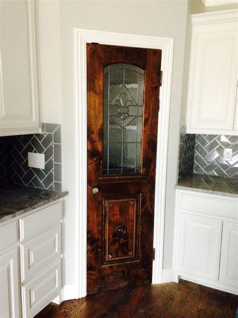 olde world door and glass custom pantry doors