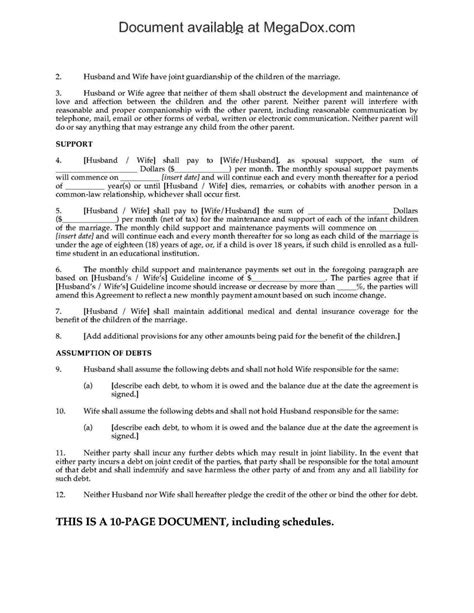 Common Law Separation Agreement Template Sletemplatess Sletemplatess Common Separation Agreement Template