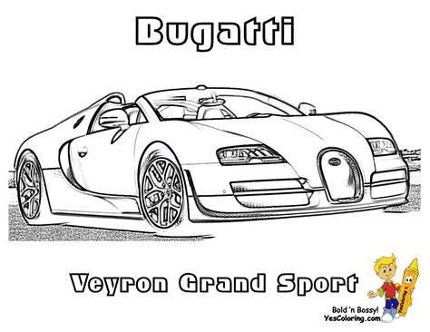 free coloring pages of bugatti veyron