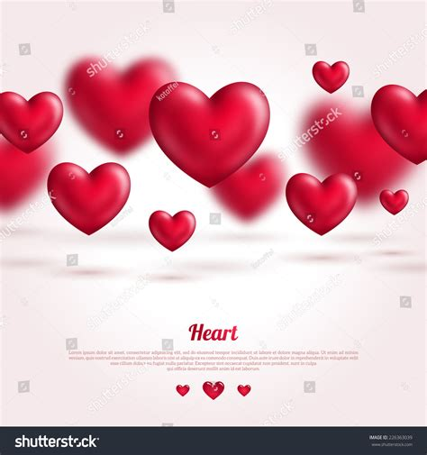valentines day card design hearts vector stock vector valentine card design flying pink hearts stock vector