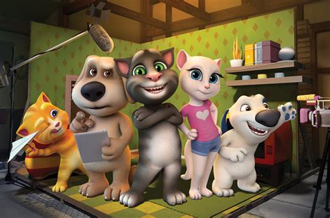 talking tom and friends characters animated series talking tom and friends