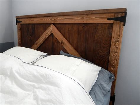 Cassie Country Barn Door Headboard Barn Door Bed Frame