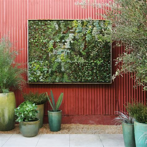 patio wall planters picture of living wall planter that looks like a real