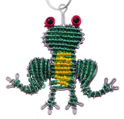 beaded frog wow imports beaded frog key chain beaded key chains