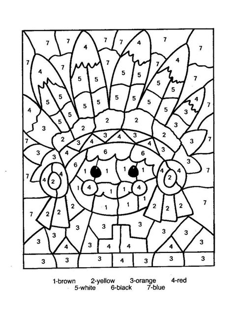 printable turkey color by number coloring pages color by numbers page print your free