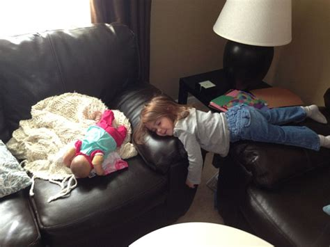 she got up off the couch photos capture children napping in bizarre places daily