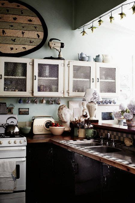 rustic kitchen love the blue retro appliances with the 458 best kitchens 1940 s 1950 s images on pinterest